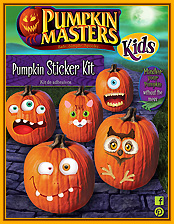Kids Pumpkin Sticker Kit